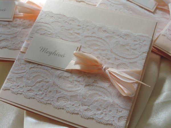 fa5d4dbc27 Csipkés, romantikus meghívók - Esküvői meghívók - Webáruház ...