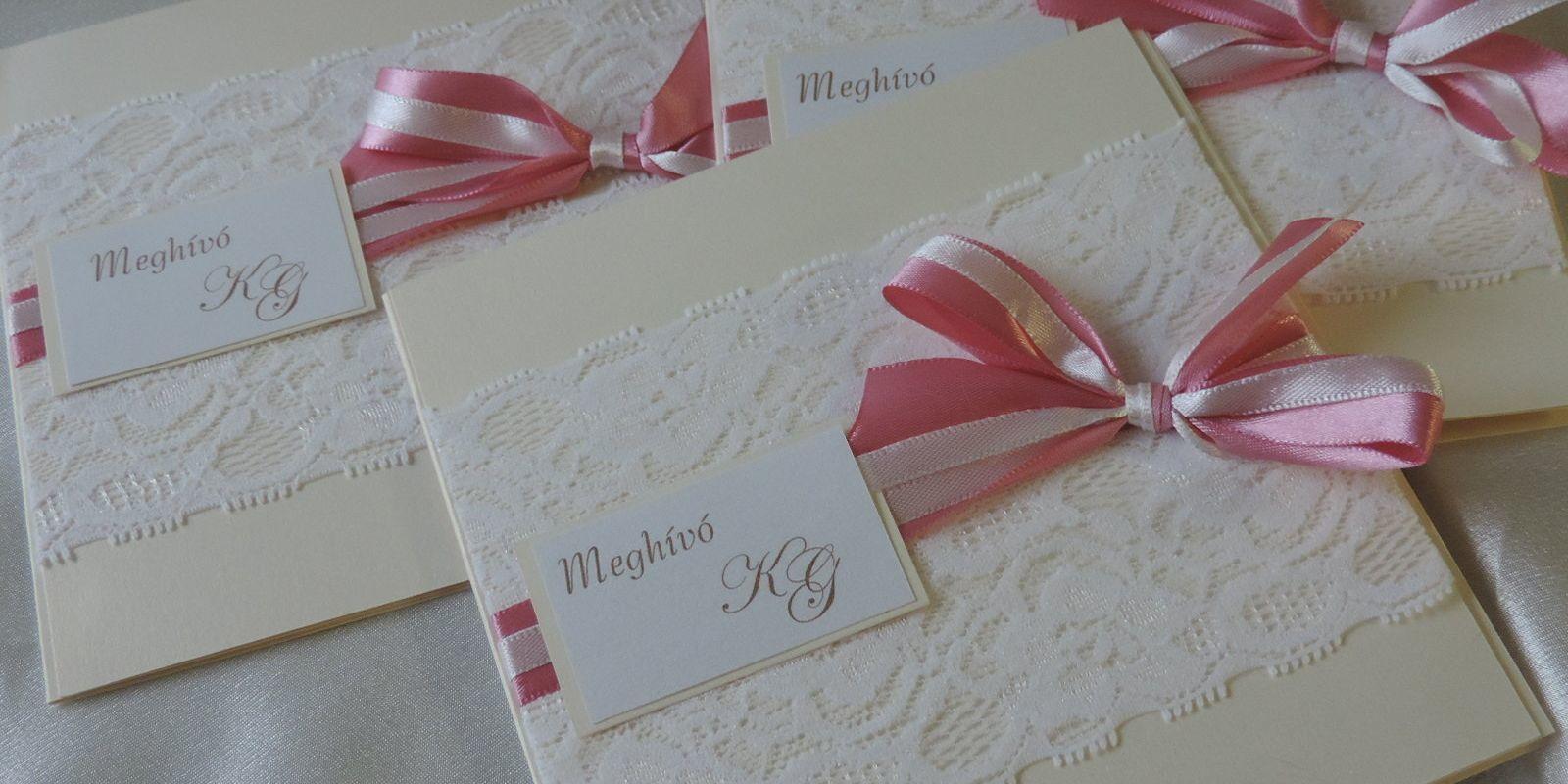 a012cba2b7 Barack meghívó; Vendégkönyvek; Ültetőkártyák; Csipkés esküvői meghívók;  Menükártyák ...
